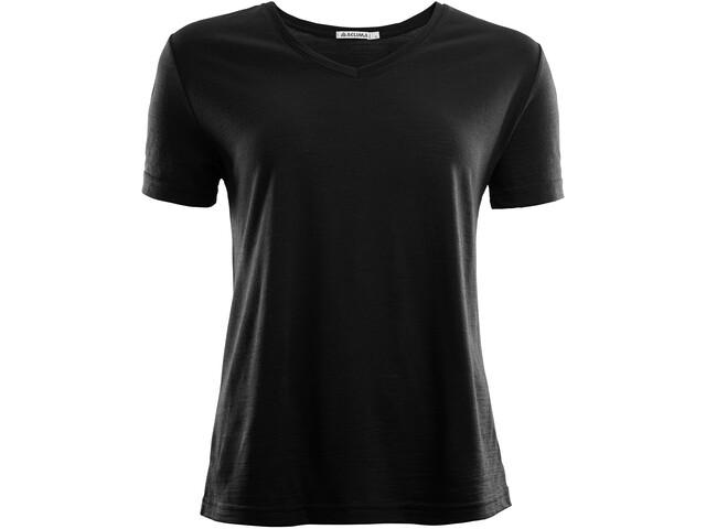 Aclima LightWool Camiseta Suelta Mujer, jet black